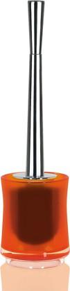 Ёрш с напольной оранжевой подставкой Spirella SYDNEY Clear-Acrylic 1017774