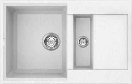 Кухонная мойка оборачиваемая с крылом, гранит, белый Omoikiri Sakaime 78-2-WH 4993128