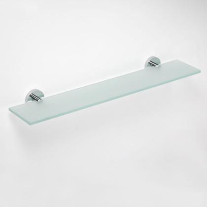 Полка прямоугольная, матовое стекло/хром 600мм Bemeta Omega 104102042