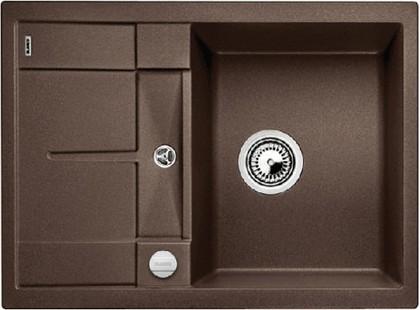 Кухонная мойка оборачиваемая с крылом, с клапаном-автоматом, гранит, кофе Blanco Metra 45 S Compact 519581