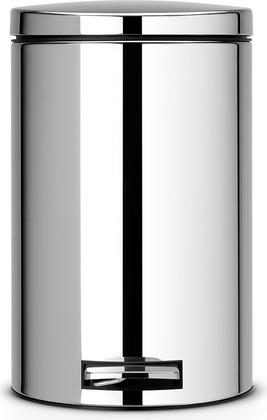 Ведро для мусора 12л с педалью, MotionControl, сталь полированная Brabantia 478123