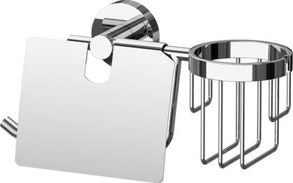 Держатель для туалетной бумаги ArtWelle Harmonia, с крышкой, для освежителя, хром HAR 051