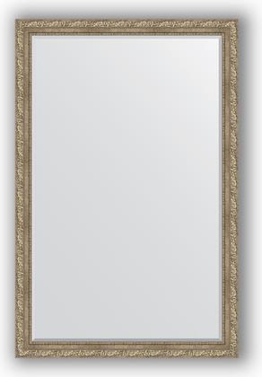 Зеркало с фацетом в багетной раме 115x175см виньетка античное серебро 85мм Evoform BY 3617
