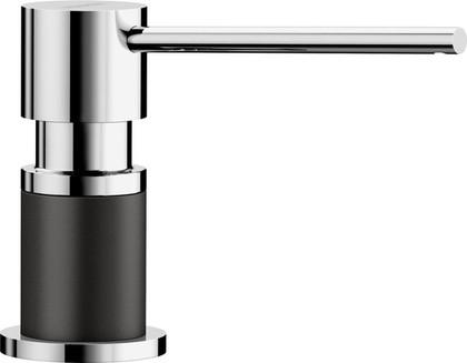 Дозатор моющего средства Blanco Lato, чёрный/хром 526177