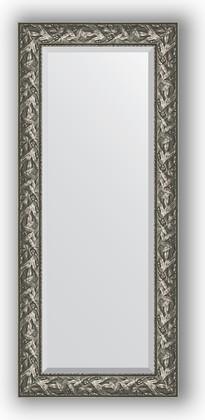 Зеркало с фацетом в багетной раме 64x149см византия серебро 99мм Evoform BY 3546