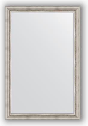 Зеркало 116x176см с фацетом 30мм в багетной раме римское серебро Evoform BY 1317