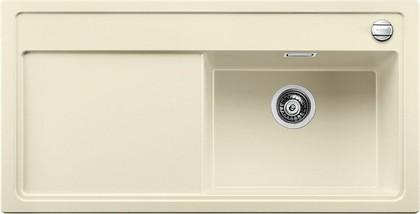 Кухонная мойка чаша справа, крыло слева, с клапаном-автоматом, гранит, жасмин Blanco Zenar XL 6 S-F 519311