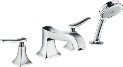 Внешняя часть смесителя на 4 отверстия на бортик ванны, хром Hansgrohe Metris Classic 31314000