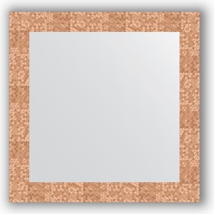 Зеркало в багетной раме 66x66см соты медь 70мм Evoform BY 3146