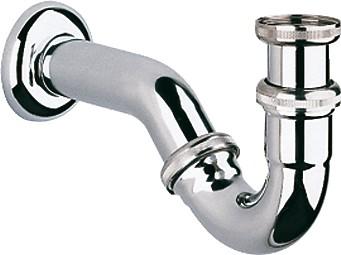 Сифон для биде трубчатый металлический, хром Grohe 28946000