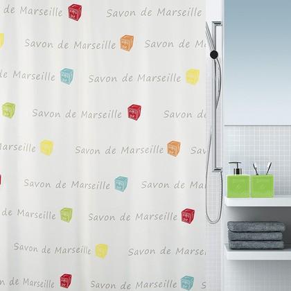 Штора для ванны 180x200см мультиколор Spirella Savon De Marseille Canebiere 4007277
