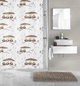 Шторка для ванной Kleine Wolke Eulen Taupe 180x200см, 100% полиэстер 5222271305