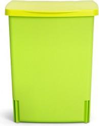Ведро для мусора квадратное встраиваемое 10л лимонно-зеленый Brabantia 482229