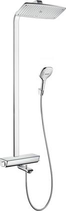 Душевой комплект с термостатом для ванны, хром / белый Hansgrohe Raindance Select 360 Showerpipe 27113400