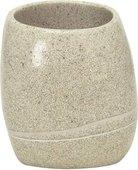 Стакан для зубных щёток Kleine Wolke Stones Sand beige, 8.5х6.5х9.5см, полирезина, бежевый 5080226852