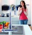 Смеситель однорычажный для мойки с функцией очистки водопроводной воды и фильтром, хром Grohe BLUE 33249001