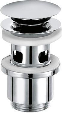 Закрывающийся сливной вентиль 1 1/4 для умывальников с отверстием для перелива Kludi 1042405-00