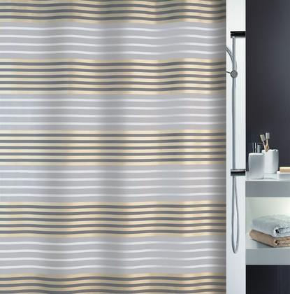 Штора для ванны 180x200см текстильная шампань Spirella VERSILIA 1017023