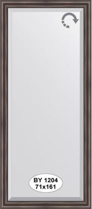 Зеркало 71x161см с фацетом 25мм в багетной раме палисандр Evoform BY 1204