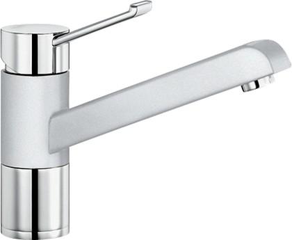 Смеситель однорычажный для кухонной мойки, хром / белый Blanco ZENOS 517808