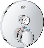 Термостат для душа Grohe Grohtherm SmartControl, 1 потребитель, круглый, хром 29118000