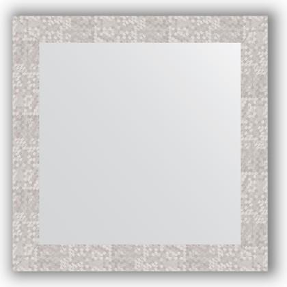 Зеркало в багетной раме 66x66см соты алюминий 70мм Evoform BY 3147