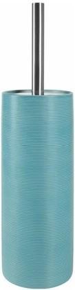 Ёрш с подставкой керамика, голубой Spirella Tube Ribbed 1018512