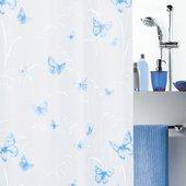 Штора для ванной Spirella Butterfly, 180x200см, полиэтилен, голубой 1028191