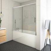 Шторка на ванну Roltechnik Proxima PXV2, 180см, дверь справа, прозрачное стекло, хром 451-180000P-00-02