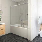 Шторка на ванну Roltechnik Lega LLV2, 120см, прозрачное стекло, хром 572-1200000-00-02