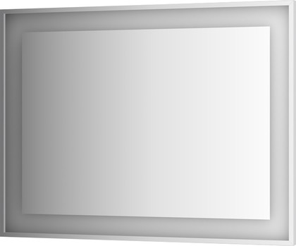 Зеркало 120x90 в багетной раме со встроенным LED-светильником Evoform BY 2212