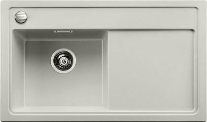 Кухонная мойка чаша слева, крыло справа, с клапаном-автоматом, гранит, жемчужный Blanco ZENAR 45 S 520615