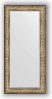 Зеркало с фацетом в багетной раме 80x170см виньетка античная бронза 109мм Evoform BY 3607