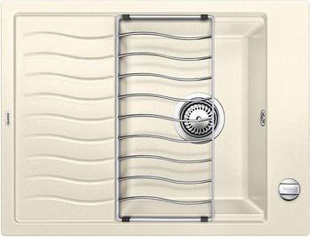 Кухонная мойка оборачиваемая с крылом и решеткой, жасмин Blanco Elon 45S 520994