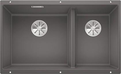 Кухонная мойка Blanco Subline 430/270-U, отводная арматура, тёмная скала 523152