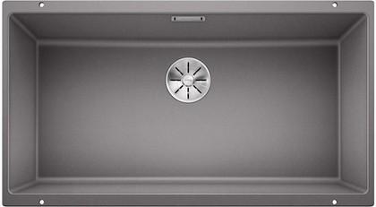 Кухонная мойка Blanco Subline 800-U, отводная арматура, алюметаллик 523143