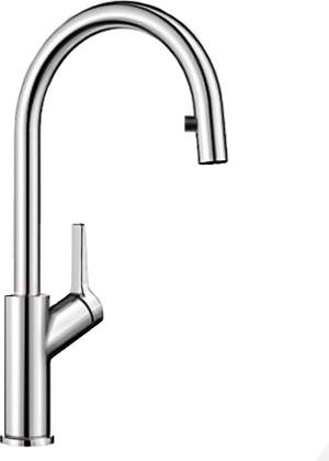 Смеситель кухонный однорычажный с высоким выдвижным изливом, хром Blanco CARENA-S 520767