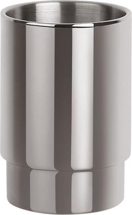 Стаканчик для зубных щёток стальной полированный Spirella Nyo 1015412