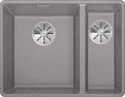 Кухонная мойка Blanco Subline 340/160-F, отводная арматура, алюметаллик 523570