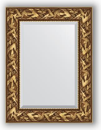 Зеркало с фацетом в багетной раме 59x79см византия золото 99мм Evoform BY 3389
