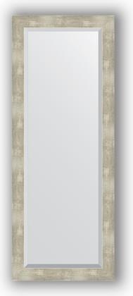 Зеркало 51x131см с фацетом 30мм в багетной раме алюминий Evoform BY 1159