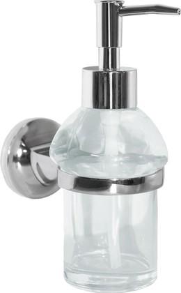 Ёмкость для жидкого мыла стеклянная прозрачная с настенным держателем Spirella LAGUNE 1017810