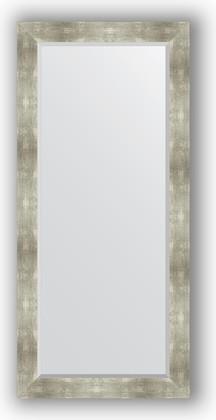 Зеркало 76x166см с фацетом 30мм в багетной раме алюминий Evoform BY 1210