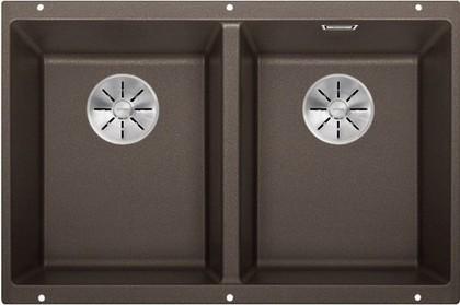 Кухонная мойка Blanco Subline 350/350-U, отводная арматура, кофе 523583