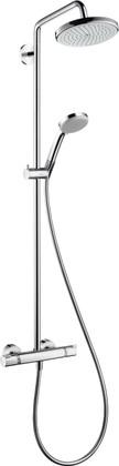 Душевая система с термостатом поворотная, хром Hansgrohe Croma 220 Showerpipe EcoSmart 27188000