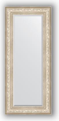 Зеркало с фацетом в багетной раме 60x140см виньетка серебро 109мм Evoform BY 3530
