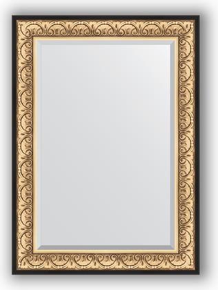 Зеркало 80x110см с фацетом 30мм в багетной раме барокко золото Evoform BY 1301