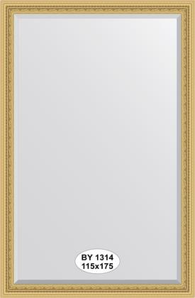 Зеркало 115x175см с фацетом 30мм в багетной раме сусальное золото Evoform BY 1314