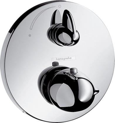 Наружная часть термостата с запорным вентилем, с круглой рукояткой, хром Hansgrohe Ecostat Е 15700000