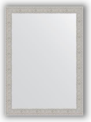 Зеркало в багетной раме 51x71см волна алюминий 46мм Evoform BY 3038